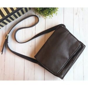 Tignanello Brown Leather Crossbody Handbag